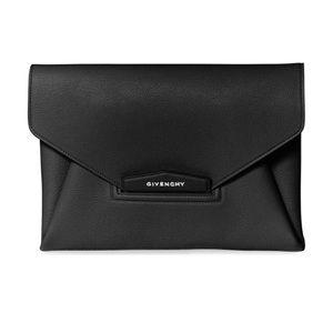 Givenchy Black Antigona Medium Envelope Clutch